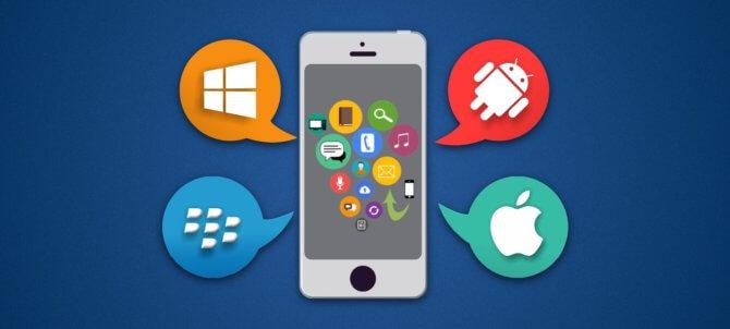 При помощи мобильного приложения
