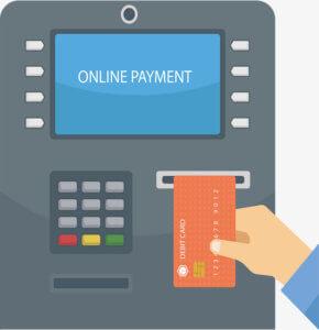 Подключение услуги через банкомат