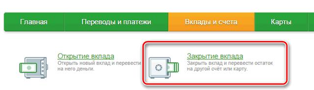 Пошаговая инструкция закрытия вклада в Сбербанк Онлайн
